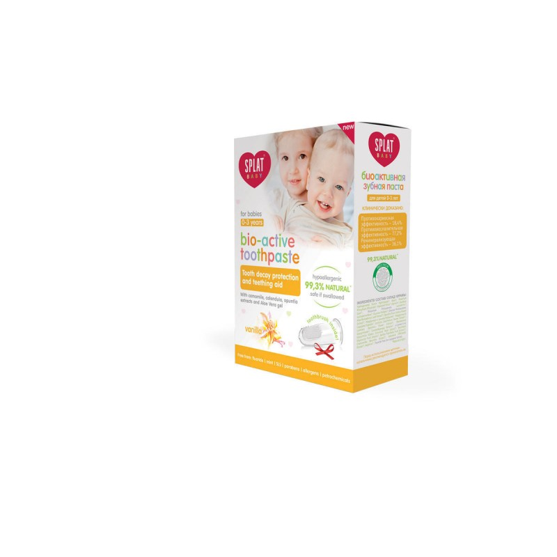 Splat BABY VANILKA prírodná zubná pasta pre batoľatá 0-3 roky, 40ml