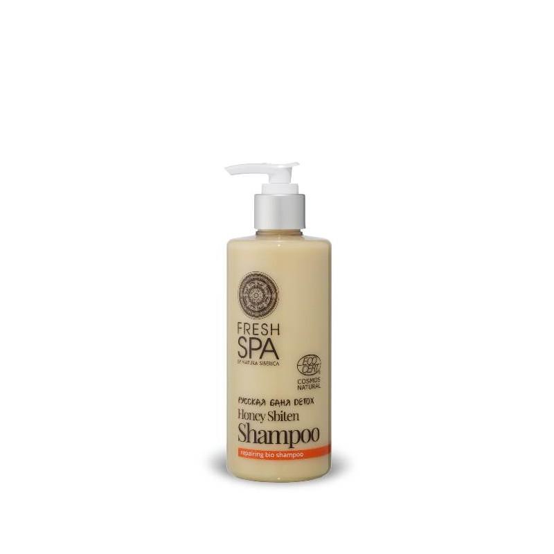 FS Russkaja Bania Detox Prírodný medový šampón pre obnovu zničených vlasov,300ml