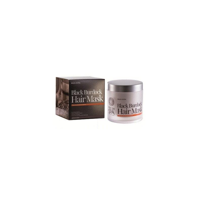 FS Russkaja Bania Detox Maska pre podporu rastu vlasov Čierny lopúch,400ml