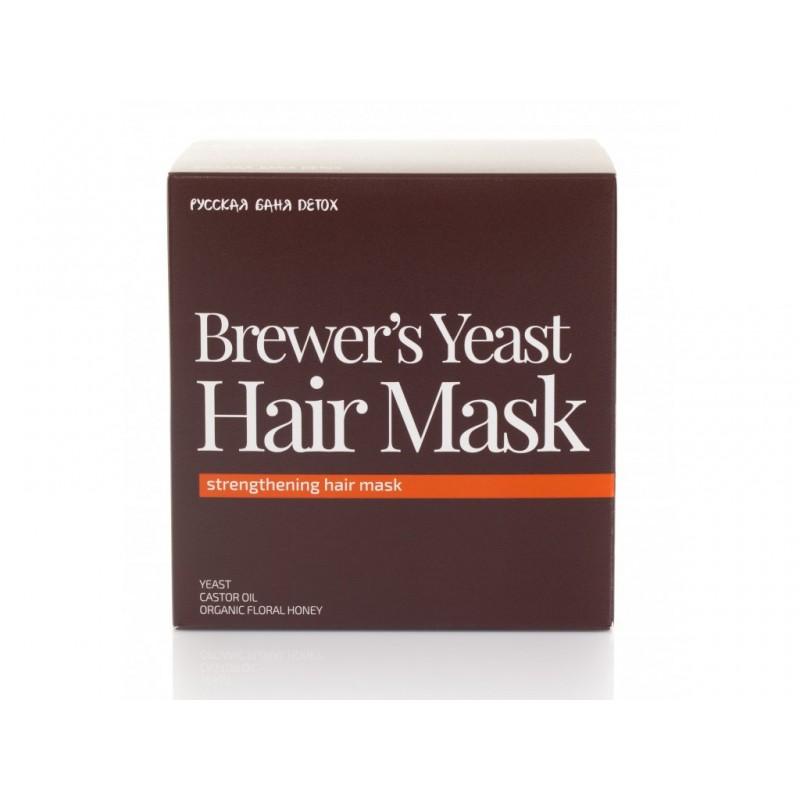 FS Russkaja Bania Detox posilňujúca vlasová maska pivné kvasnice, 400ml