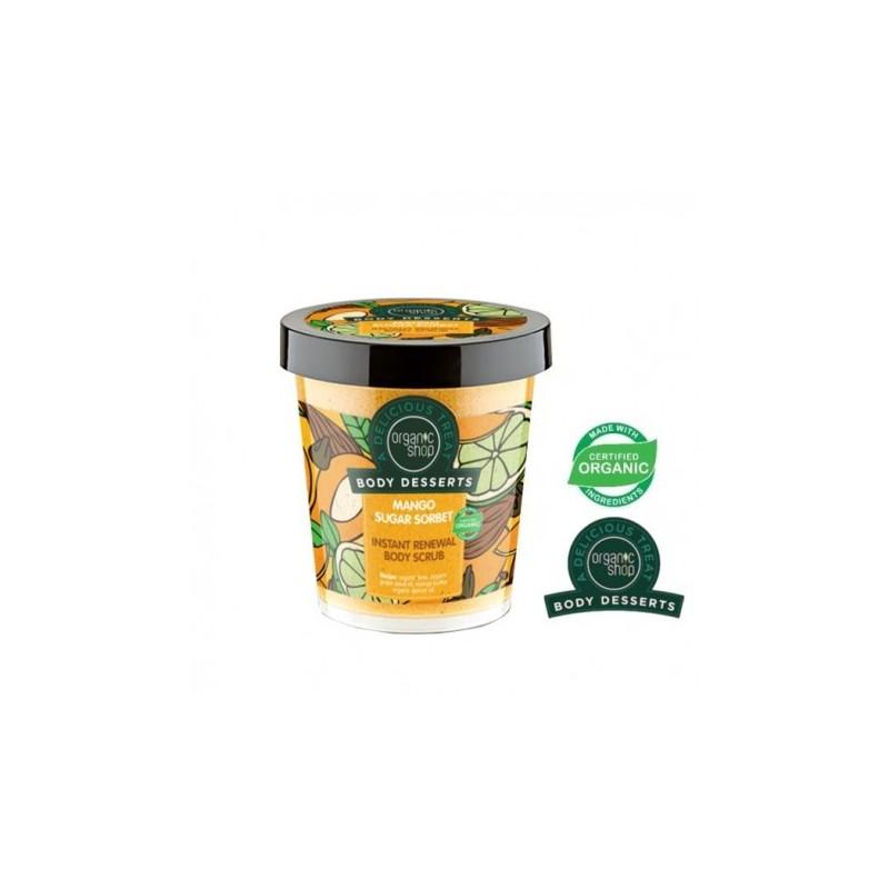 Obnovujúci telový píling Cukrový Mangový Sorbet 450ml