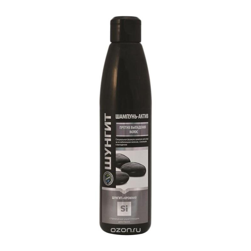Šungitový šampón-Aktiv , proti vypadávaniu vlasov, so silikónom