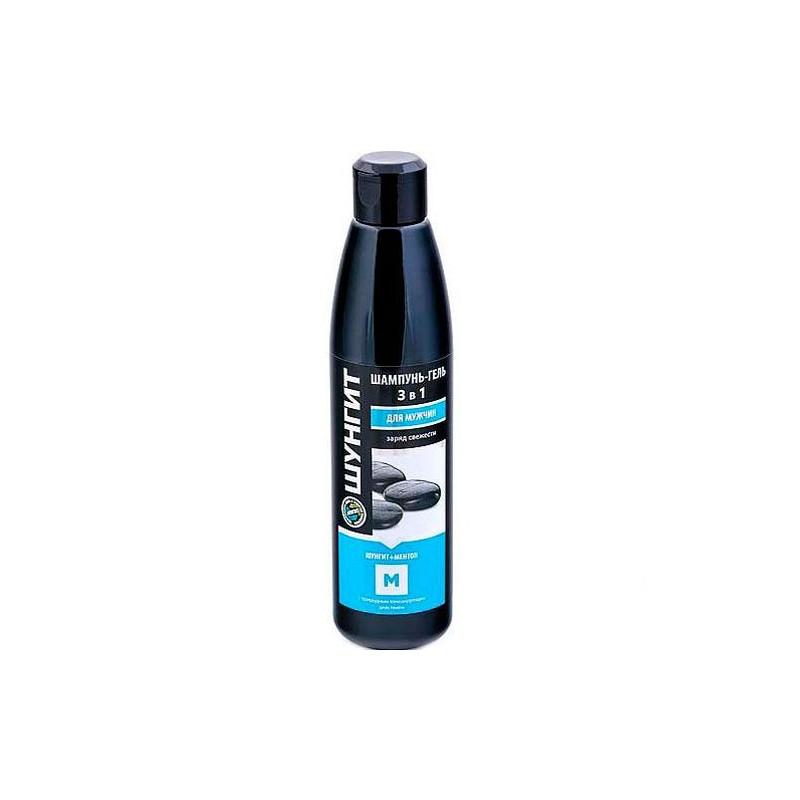 Šungitový sprchovací gél pre mužov s mentolom 3v1