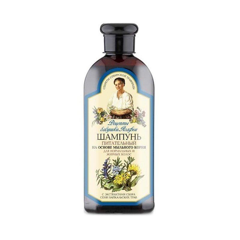 BABIČKA AGAFIA Výživný šampón na normálne a mastné vlasy, 350 ml