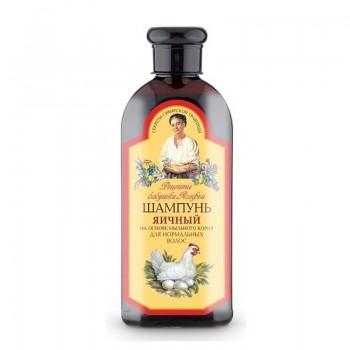 Babička Agafa Šampón na báze vaječného žĺtku a mydlice lekárskej pre normálne vlasy (bez parabénov) 350 ml