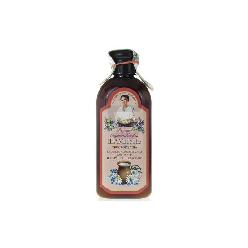 Babička Agafa Šampón kyslé mlieko pre suché a farbené vlasy 350 ml