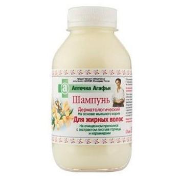 Babička Agafa dermatologický šampón na základe mydlice lékarskej s propolisom na mastné vlasy 300 ml