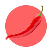Extrakt z čili papričiek, kapsaicín zlepšuje krvný obeh ďasien.